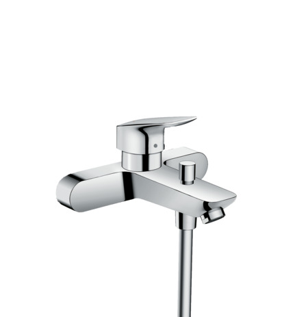 Single lever bath mixer for exposed installation with 2 flow rates