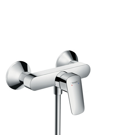 Single lever shower mixer for exposed installation (ceramic cartiridge with 2 flow rates)
