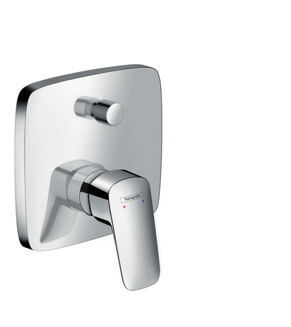 Single lever manual bath mixer for concealed installation