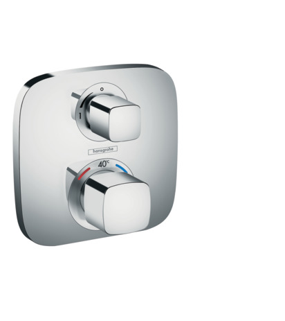 Thermostatic mixer for concealed installation for 1 outlet with shut-off valve