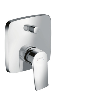 Single lever manual bath mixer soft cube for concealed installation with integrated backflow prevention