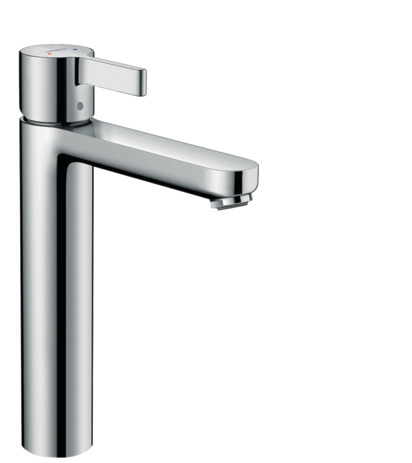 Single lever basin mixer with pop-up waste