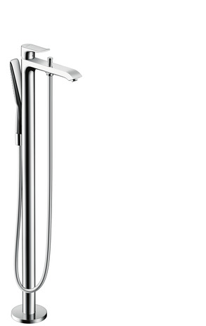 Floor standing single lever bath mixer
