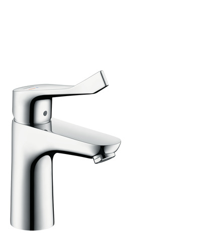 Single lever basin mixer 100 CoolStart with extra long handle without waste set