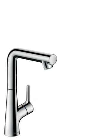 Single lever basin mixer 210 with pop-up waste set and swivel spout with 120° range