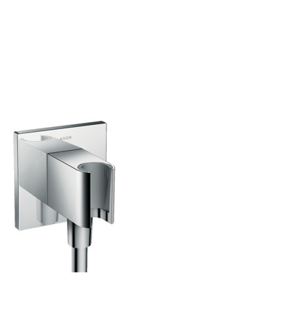 Wall outlet Square with shower holder