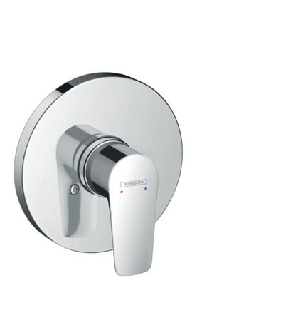Single lever shower mixer for concealed installation