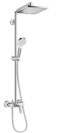 Crometta E 240 1jet Showerpipe with single lever mixer