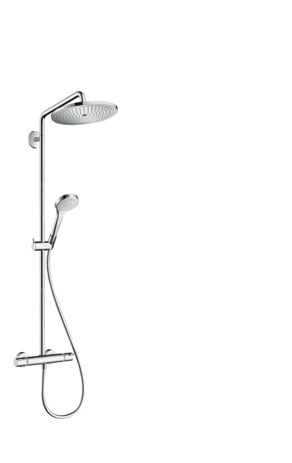 Showerpipe 280 1jet EcoSmart 9 l/min with thermostatic shower mixer