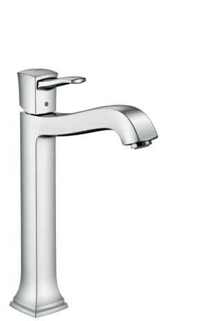 Single lever basin mixer 260 with lever handle for washbowls with pop-up waste set