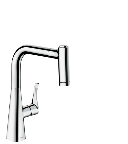 Single lever kitchen mixer 220, pull-out spray, 2jet
