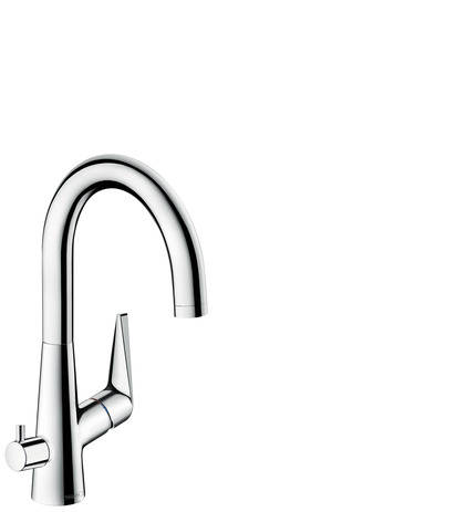 Single lever kitchen mixer 220 with device shut-off valve