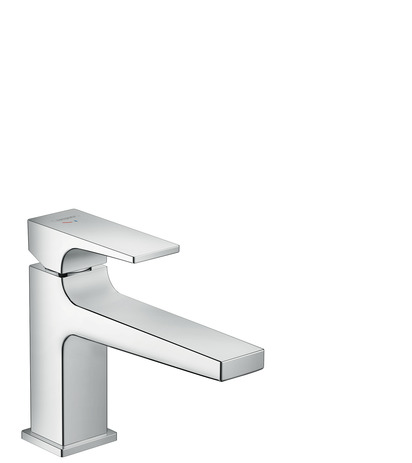 Single lever basin mixer 100 CoolStart with lever handle and push-open waste