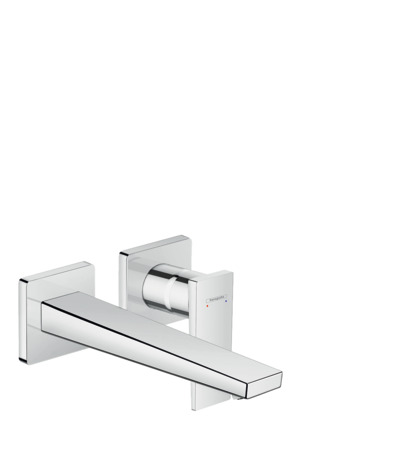 Single lever basin mixer with lever handle for concealed installation with spout 225 mm, wall-mounted