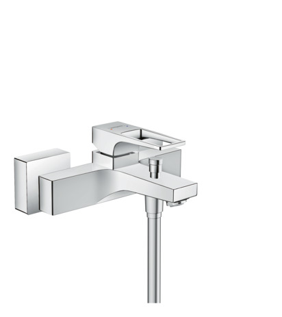 Single lever bath mixer for exposed installation with loop handle