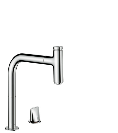 M7119-H200 2-hole single lever kitchen mixer with pull-out spout