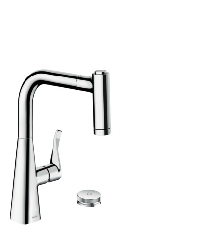 M7120-H220 2-hole single lever kitchen mixer with pull-out spray