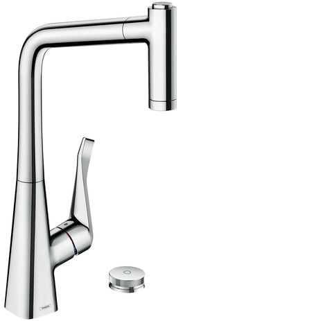 M7120-H320 2-hole single lever kitchen mixer 320 with pull-out spray