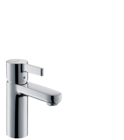 Single lever basin mixer with pop-up waste set