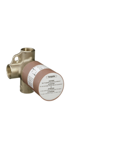 Basic set for Trio shut-off / diverter valve for concealed installation