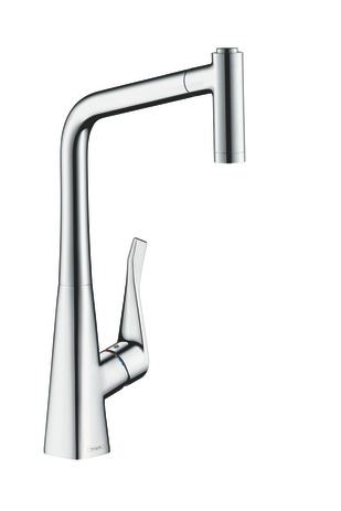 Single lever kitchen mixer 320, pull-out spray, 2jet