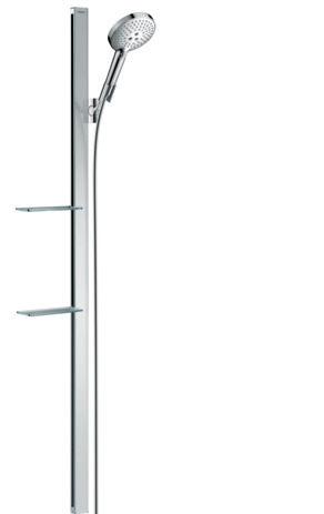 Shower set 120 3jet with shower bar 150 cm and soap dishes