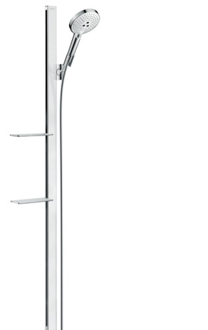 Shower set 120 3jet EcoSmart 9 l/min with shower bar 150 cm and soap dishes