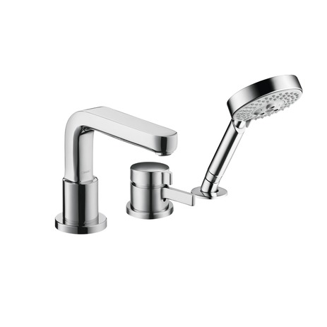 Metris S 3-Hole Thermostatic Tub Filler Trim