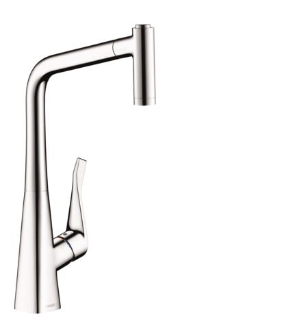 Metris 2-Spray HighArc Kitchen Faucet, Pull-Out