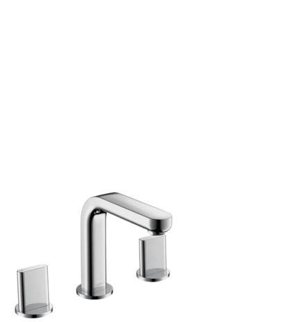 Widespread Faucet 100 with Full Handles and Pop-Up Drain, 1.2 GPM