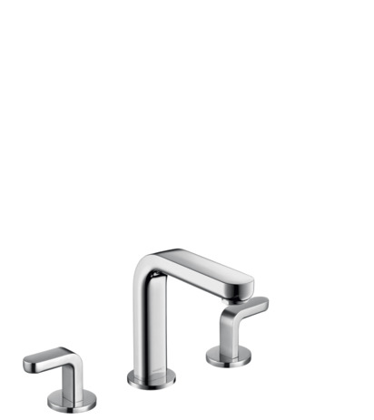 Widespread Faucet 100 with Lever Handles and Pop-Up Drain, 1.2 GPM