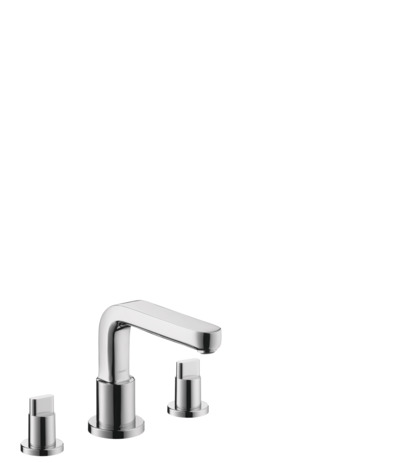 Metris S 3-Hole Roman Tub Set Trim with Full Handles