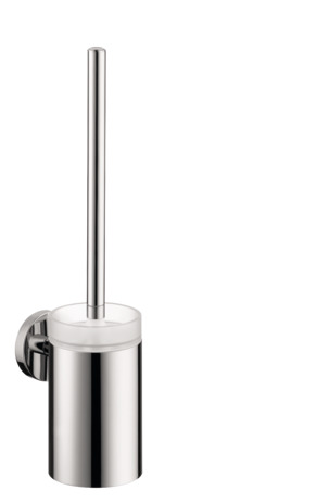 Toilet brush with tumbler wall-mounted