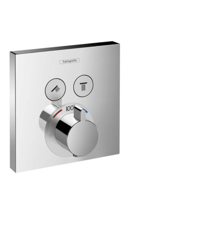 ShowerSelect Square Thermostatic 2-Function Trim