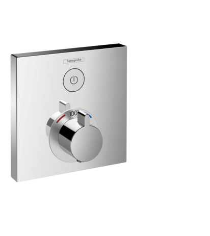 ShowerSelect Square Thermostatic 1-Function Trim