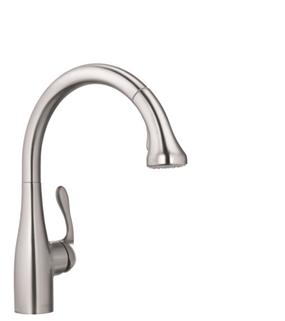 Allegro E Gourmet 2-Spray HighArc Kitchen Faucet, Pull-Down
