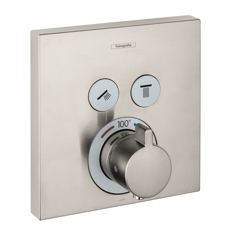 Thermostatic Trim for 2 Functions, Square