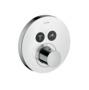 Axor ShowerSelect Round Termostatik Batarya, Ankastre, 2 çıkış için