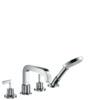 4-Delikli Küvet Kenarı Banyo Bataryası Çubuk Volan İle DN15