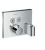 Termostat ankastre montaj, 2 çıkış için hortum bağlantısı ve duş askısı ile