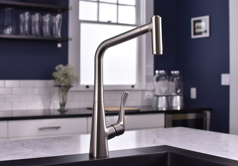 hansgrohe Kitchen faucets: Metris, HighArc Kitchen Faucet, 2-Spray ...