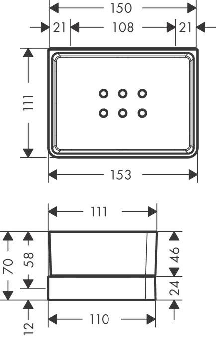 Ablage Dusche Glas : : Axor Universal Accessories, Ablage, f?r Dusche, Art.-Nr. 42802000