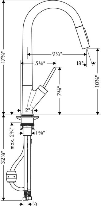 AXOR Kitchen faucets: AXOR Starck, Axor Starck 2-Spray HighArc ...