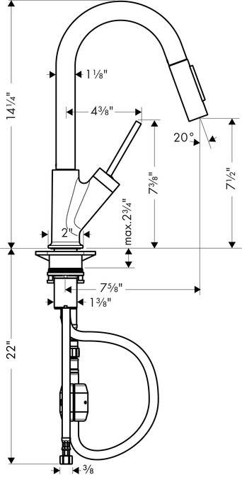 AXOR Kitchen faucets: AXOR Starck, Axor Starck 2-Spray Prep ...