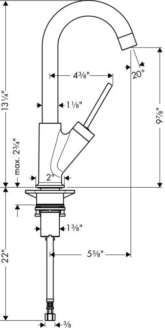 AXOR Kitchen faucets: AXOR Starck, Axor Starck Bar Faucet, 1.5 GPM ...