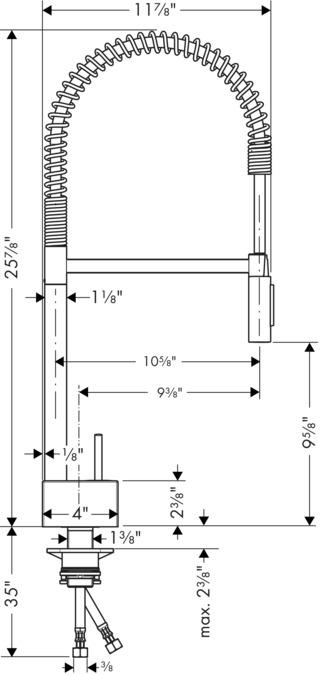 AXOR Kitchen faucets: AXOR Starck, Axor Starck 2-Spray Semi-Pro ...