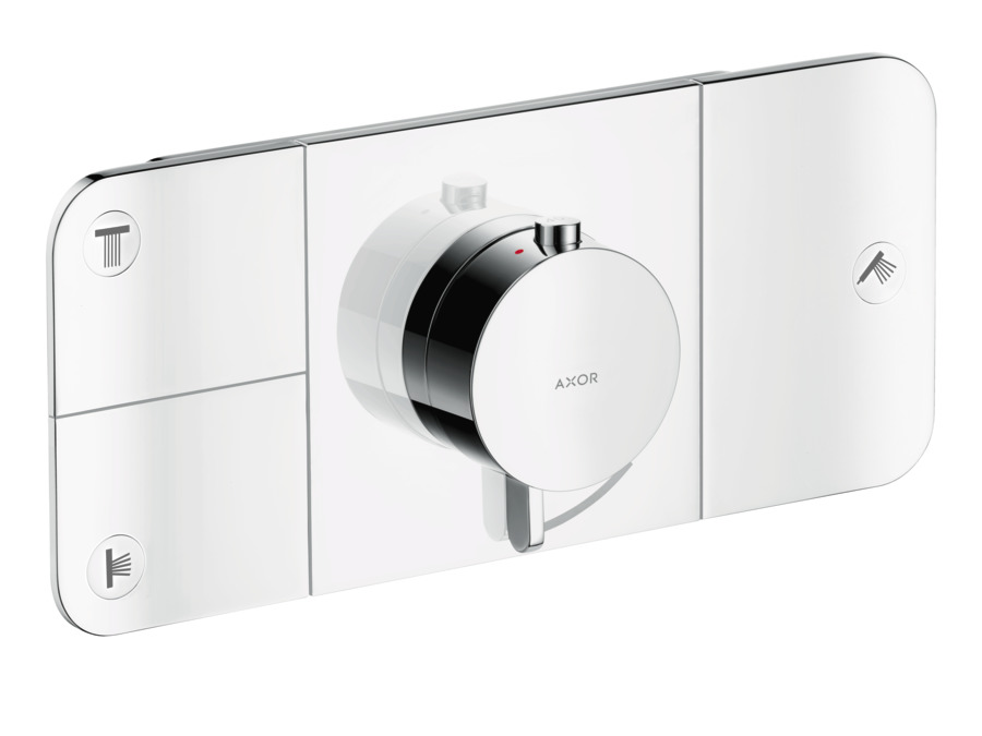 axor one shower mixers designed to run 3 outlets and 1. Black Bedroom Furniture Sets. Home Design Ideas