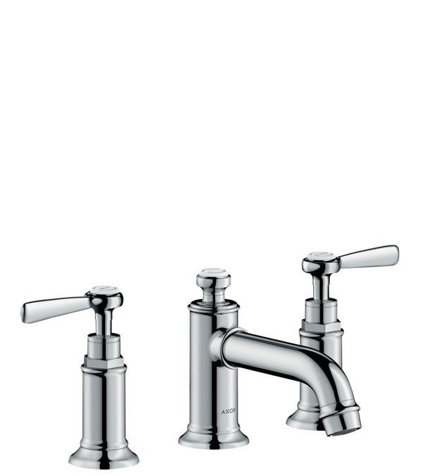 3 hole basin mixer 30 with pop up waste set and lever handles. AXOR Montreux Washbasin mixers  two handle  chrome  16535000