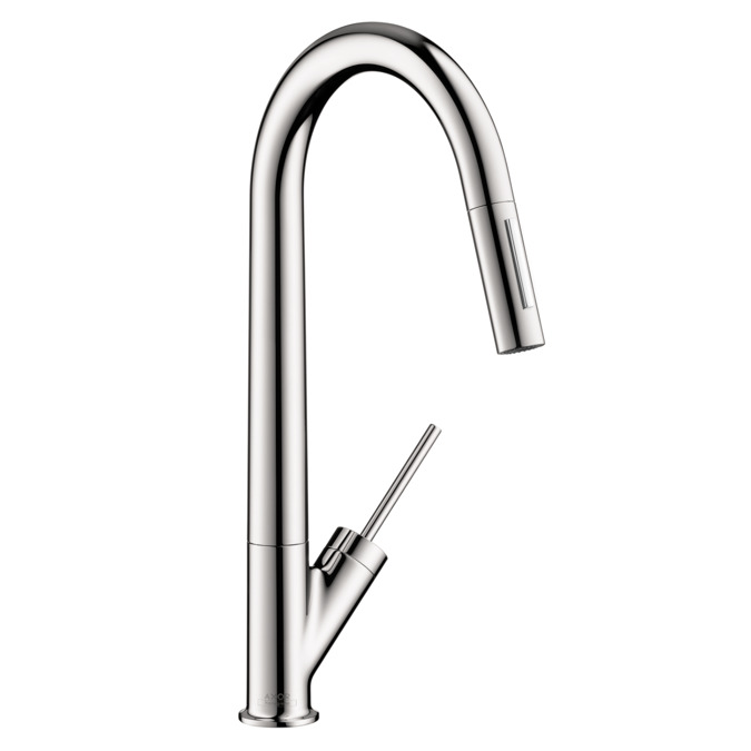 Axor Starck 2 Spray HighArc Kitchen Faucet, Pull Down, 1.75 GPM