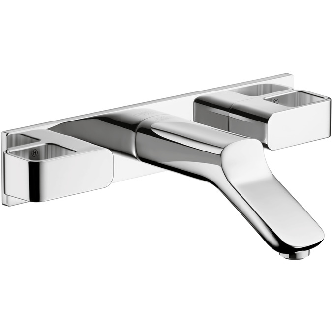axor urquiola wallmounted widespread faucet trim with base plate 12 gpm